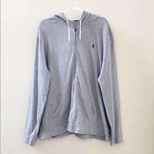 Polo Ralph Lauren Grey Hoodie Jacket XXL
